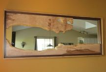 mirrors / Unique wood mirrors available for sale at www.liveedgedesign.com
