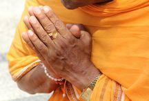 Praying hands in Shravanabelagola, Karnataka / Shravanabelagola is a prominent Jain pilgrim centre in Hassan district, Karnataka state, India.
