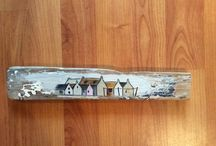 Helen's driftwood art