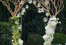 svatební výzdoba + brány