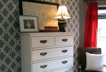 Stenciled & Painted Walls / by Funky Finds