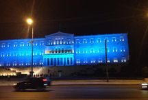International Democracy Day / Athens celebrates the International Democracy day. The most important and representative landmarks will be lite in BLUE in the evening.