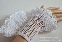 Митенки, перчатки / Mittens, gloves / Митенки, перчатки, манжеты и пр для девушек и женщин