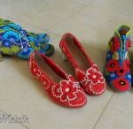 Вязаная обувь. Crochet shoes