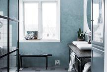 "ARTTILES ""a bathroom in copenhagen"" / bathroom decor interior design bathtub sage tiles flooring shower"