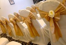 Gold Themes / Beautiful Gold coloured venue dressing.