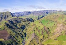 South Iceland Paragliding / Paragliding over the beautiful land and ocean over south Iceland.