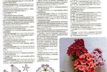 Цветы, листья и др мелочь крючком