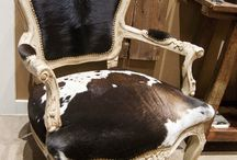 Cowhide chairs