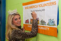 The Miss America Organization Volunteers with Habitat-NYC / Habitat for Humanity NYC was honored to have Miss America 2013 Mallory Hagan, Miss New York Shannon Oliver and numerous other wonderful volunteers join us for a day of service to help paint a senior center in East Harlem as part of a Habitat for Humanity - New York City Brush with Kindness project. / by Habitat for Humanity New York City