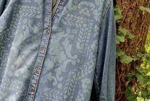 jacheta jeans decolorata