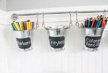 Kids craft area / by Tria Wylie