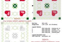 Cross stitch biscornu / Cross stitch patterns of biscornu.