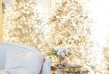Home for the Holidays / A collection of Balsam Hill decorated Christmas trees from our blogger friends
