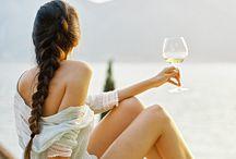 Съемка с вином