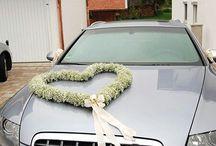 decoratiuni pentru masina mirilor