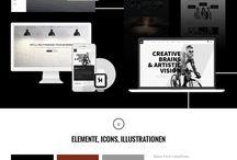 moodboard wurzelschläger projekte (auswahl) / #webdesign #onlinemarketing #moodboard #bildsprache