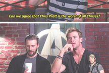 The Chris Wars / Evans, Hemsworth, Pine, Pratt... Who will prevail?