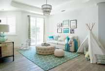 living space with a baby