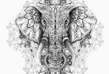 elefant mandala