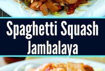 spaghetti squash sausage n shimp