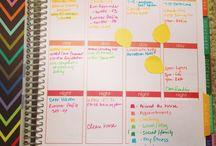 organização planner, bullet journal, agenda, bujo