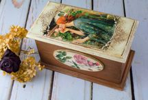 Wooden jewelry box by