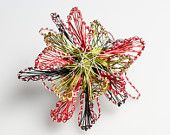 #vmikro #flowers #brooch #statementjewelry #jewelry #colorful #wireflowers #metalflower / Contemporary Jewelry.Modern Jewelry Art. Sculpture. Creative sculptural wire jewelry.
