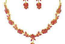 Ruby Necklace Sets / Ruby Necklaces Indian Women Favorite Jewellery from Goldecollections having huge designs in ruby necklace sets