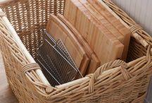 Storage ideas / Storage basket love!