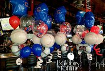 Sports Balloon Decor / Sports celebrations happen all year long.  What better way to support your team than using their colors or even their logo for your next party!  Want more? Visit www.balloonsbytommy.com