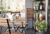 salón y terraza