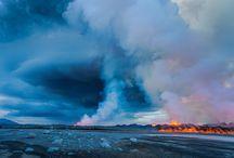 Volcano Eruption in Bárðarbunga/Holuhraun in Vatnajökull National Park