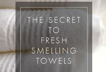 FRESH SMELLING TOWELS