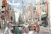 Urban Sketch / Draw what you see, feel it well, you will discover another world. enjoy! / by Terence