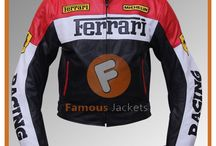 Ferrari Red/Black Motorcycle Racing Leather Jacket