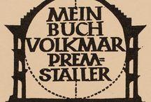ex libris Ottmar Premstaller (Austria, 1927)