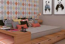 Quartos e Camas - Lincoln Briniak / Quarto, cama, travesseiro, penteadeira, decoração e dormir.