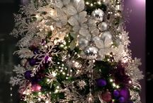 purple theme christmas tree