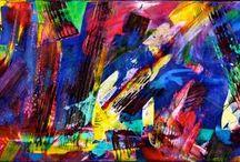 Original abstract paintings www.NestorToro.com / Contemporary original abstract paintings by Nestor Toro.