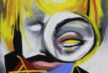 Diego Oliveira / Pinturas do artista brasileiro Diego Oliveira