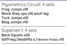 New workout ideas