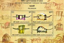 """Conmemorative Postage Stamps / Postage Stamps on """"Means of Transport Through the Ages: released by India Post a short while back at Heritage Transport Museum!"""