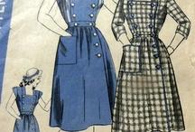 Sewing inspiration / Fabrics, vintage patterns, neat details, etc.