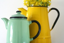 The Orchard: Enamel Homewares: Shabby Chic Vintage / It's all about vintage and what better way to go than enamelware to display flowers, store bread and cakes or serve tea and coffee.  Whatever the use take a look at our inspiration here.
