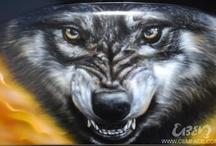 Wolf airbrush