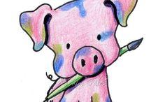 Pig Art / Pig Art / by Diana DeMuth
