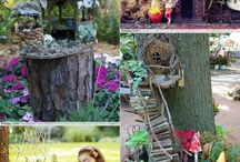 Fairy garden and House