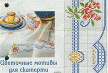 gráficos para toalhas de mesa
