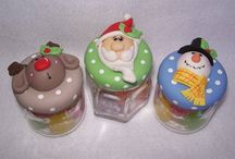 frascos de natal
